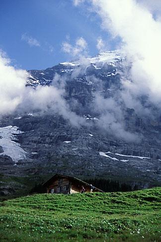 image 2-103-7 Switzerland, Alps, Hut on the way to Grindenwald