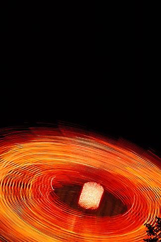 image 2-108-18 Switzerland, Geneva, Circular patterns of amusement park ride