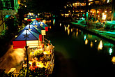 illuminated stock photography | Texas, San Antonio, River Walk (Paseo del Rio), image id 1-701-93