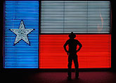 illuminated stock photography | Texas, San Antonio, Institute of Texas Cultures, Flag of Republic of Texas, image id 1-702-26