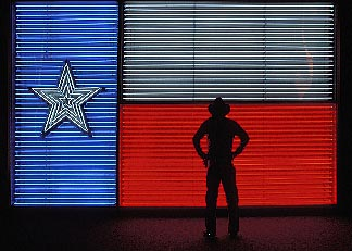 1-702-26  stock photo of Texas, San Antonio, Institute of Texas Cultures, Flag of Republic of Texas