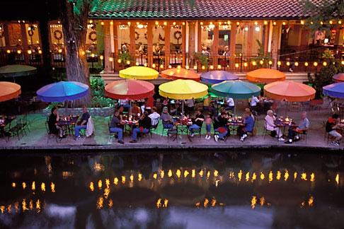 image 1-702-7 Texas, San Antonio, River Walk Paseo del Rio
