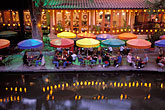 illuminated stock photography | Texas, San Antonio, River Walk (Paseo del Rio), image id 1-702-7