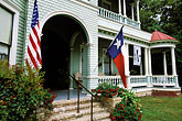 us flag stock photography | Texas, Gonzales, Houston House, 1895, image id 1-710-13