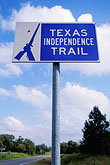signs stock photography | Texas, Washington on the Brazos, Texas Independence Trail, image id 1-750-96