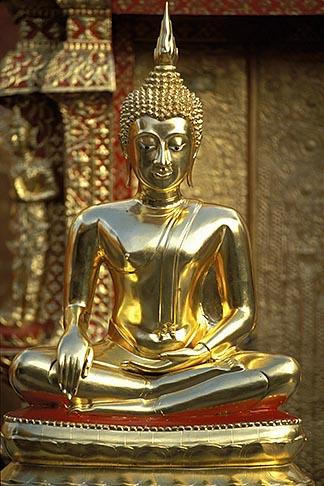 image 0-360-61 Thailand, Chiang Mai, Golden Buddha, Wat Phra That Doi Suthep