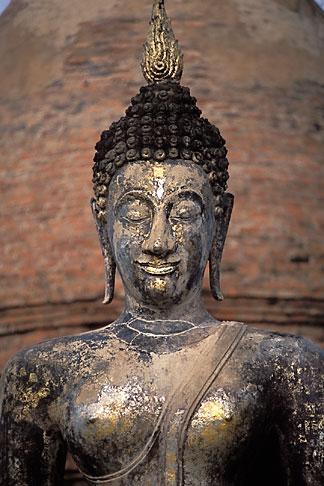 image 0-380-70 Thailand, Sukhothai, Buddha, Wat Mahathat