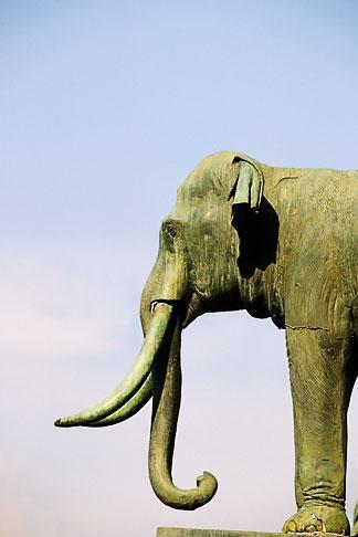 image 4-198-51 Thailand, Bangkok, Elephant statue, Grand Palace