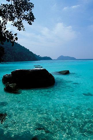 image 7-502-6 Thailand, Surin Islands, Sea Gypsies off Ko Surin Tai