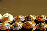 conical stock photography | Thailand, Bangkok region, Floating market, Damnern Saduak, image id 7-511-28