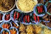 cuisine stock photography | Thailand, Bangkok, Chillies and noodles in market, image id 7-516-8