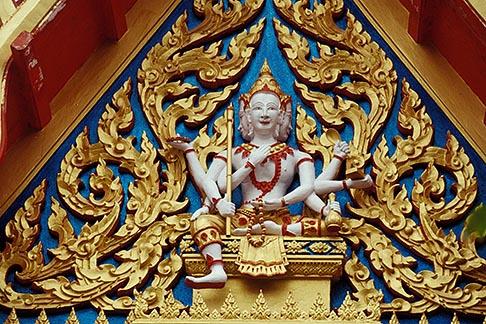 image 7-529-36 Thailand, Phuket, Carving, Wat Cha Long