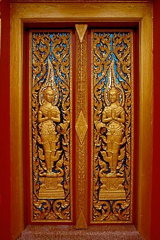 image 7-530-19 Thailand, Phuket, Door, Wat Cha Long