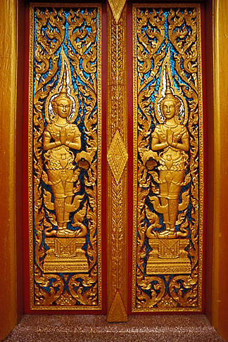 image 7-530-20 Buddhist Art, Door, Wat Cha Long