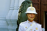 grand palace stock photography | Thailand, Bangkok, Guard, Grand Palace, image id S3-101-5