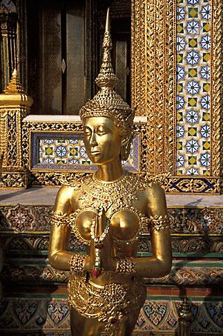 image S3-101-7 Thailand, Bangkok, Kinnara, Wat Pra Keo