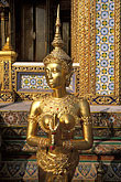 close up stock photography | Thailand, Bangkok, Kinnara, Wat Pra Keo, image id S3-101-7