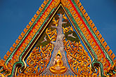 temple roof stock photography | Thailand, Nong Khai, Temple Detail, image id S3-104-1