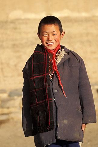 image 4-125-36 Tibet, Young Tibetan, Xiahe