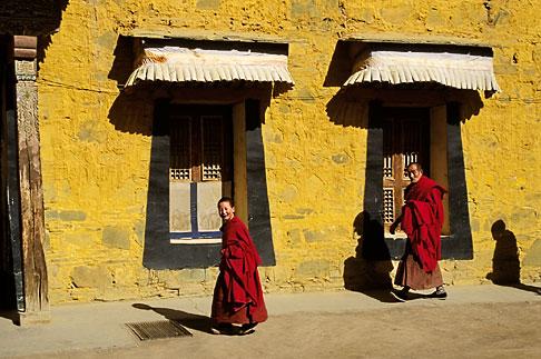 image 4-129-9 Tibet, Tibetan monks, Labrang Monastery, Xiahe