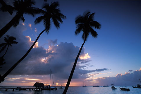 image 8-49-8 Tobago, Sunset, Pigeon Point