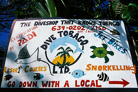 image 8-55-24 Tobago, Sign, Pigeon Point
