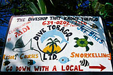 multicolour stock photography | Tobago, Sign, Pigeon Point, image id 8-55-24