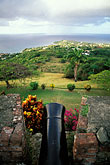 overlooking the sea stock photography | Tobago, Cannon, Scarborough Fort, image id 8-62-35
