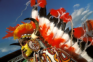 8-143-6 stock photo of Trinidad, Carnival, Native American costume
