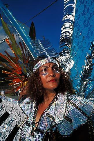 image 8-146-5 Trinidad, Carnival, Costumed dancer
