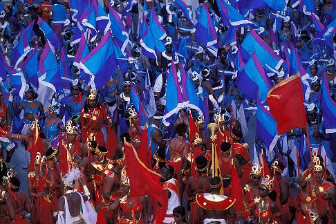 image 8-169-6 Trinidad, Carnival, Mas band on stage