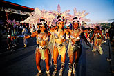 three women only stock photography | Trinidad, Carnival, Costumed dancers in parade, image id 8-175-1