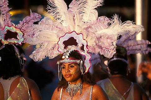 image 8-176-5 Trinidad, Carnival, Costumed dancer