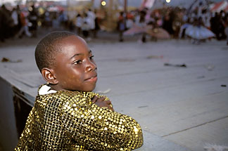 8-176-6 stock photo of Trinidad, Carnival, Boy watching parade