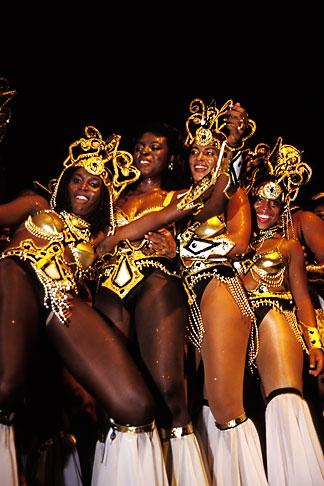 image 8-181-5 Trinidad, Carnival, Costumed dancers