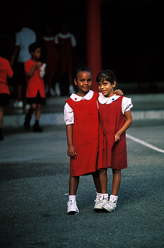 image 8-20-20 Trinidad, Two schoolgirls