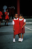 vertical stock photography | Trinidad, Two schoolgirls, image id 8-20-20