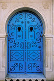 blue decorated doorway stock photography | Tunisia, Sidi Bou Said, Painted doorway, image id 3-1100-1