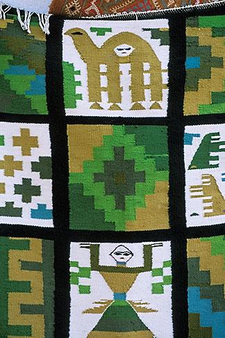 image 3-1100-10 Tunisia, Tozeur, Carpet with camel designs
