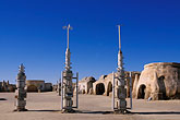 sahara desert stock photography | Tunisia, Tozeur, Onk Jemal, Star Wars set, image id 3-1100-109