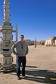 one man only stock photography | Tunisia, Tozeur, Onk Jemal, Star Wars set, image id 3-1100-110