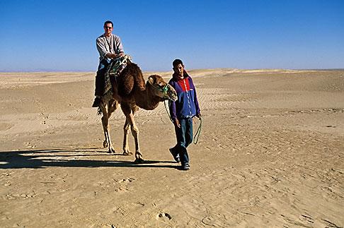 image 3-1100-13 Tunisia, Nefta, Riding a camel