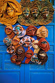 african art stock photography | Tunisia, Sidi Bou Said, Masks, image id 3-1100-2