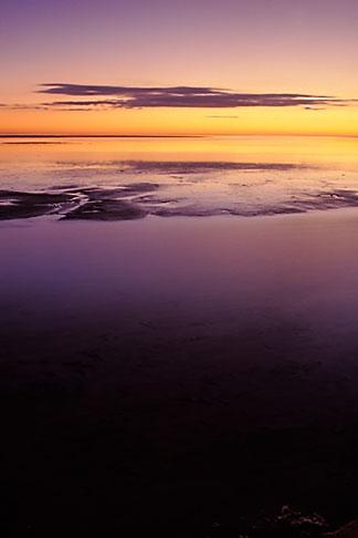 image 3-1100-25 Tunisia, Chott el Jerid at sunset