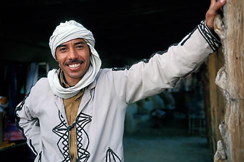image 3-1100-28 Tunisia, Tozeur, Man in doorway