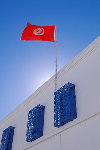 image 3-1100-30 Tunisia, Tunis, Tunisian flag