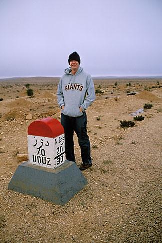 image 3-1100-43 Tunisia, Milestone in the desert