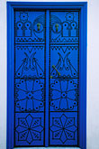 blue decorated doorway stock photography | Tunisia, Sidi Bou Said, Painted doorway, image id 3-1100-5