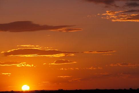 image 3-1100-50 Tunisia, Sunset on Chott et Jerid