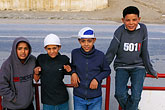 simplicity stock photography | Tunisia, Kids on roadside, image id 3-1100-55